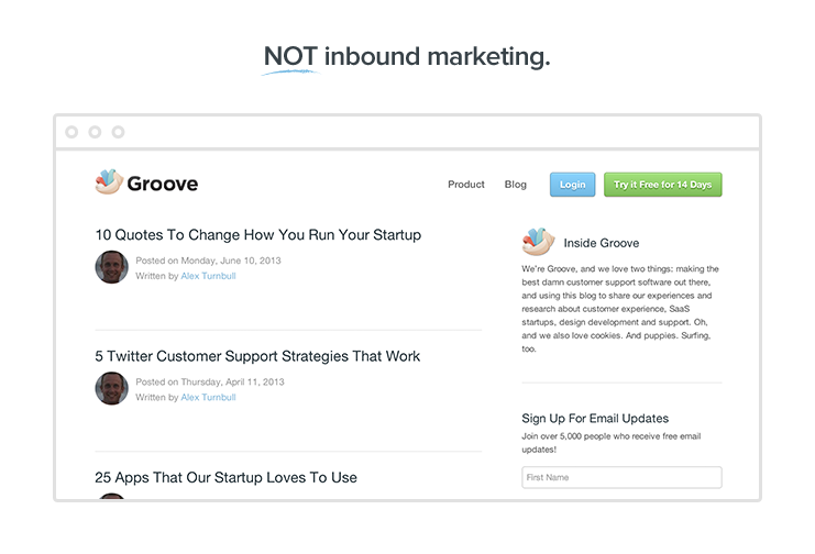 not inbound marketing