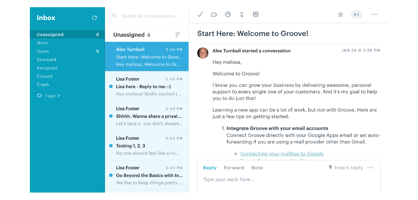 customer onboarding email templates in Groove