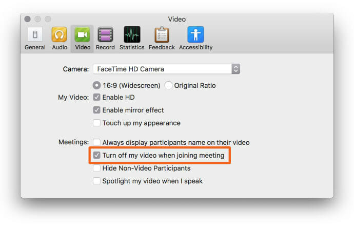 Zoom tips: Always turn video off