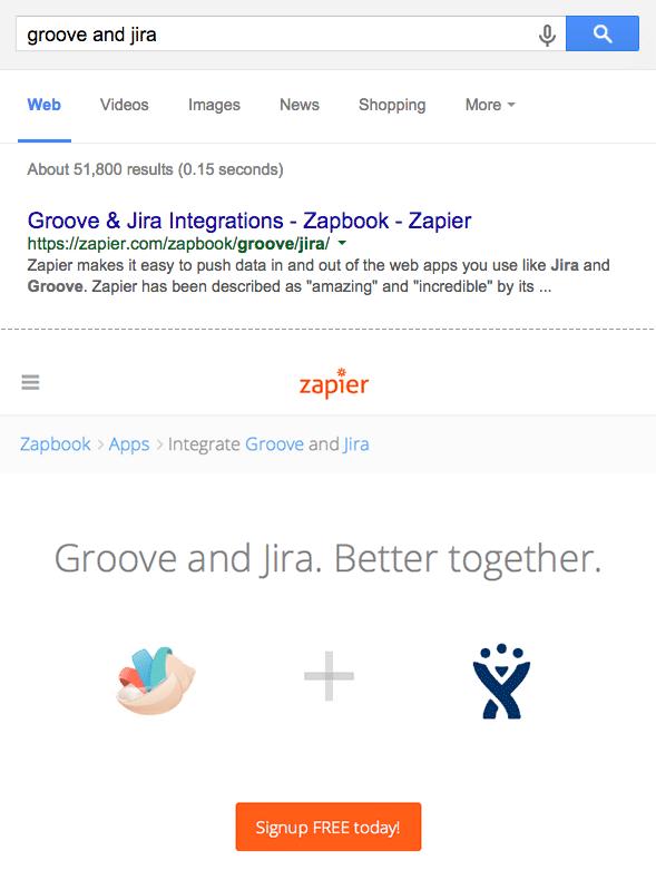 Groove Jira Zap