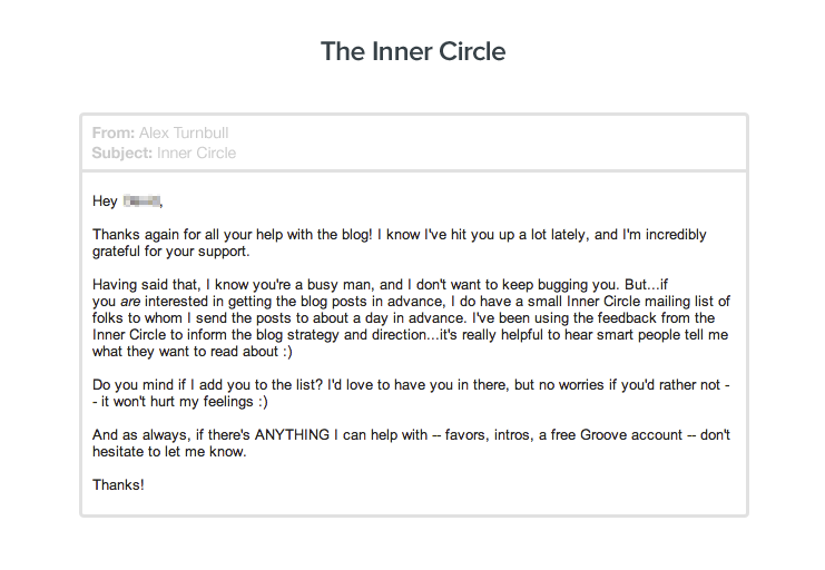 1000 blog subscribers: The Inner Circle