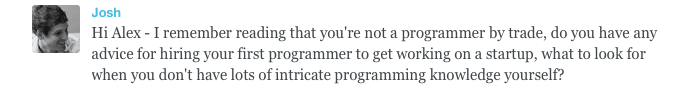 Business questions and answers: How to hire your first programmer