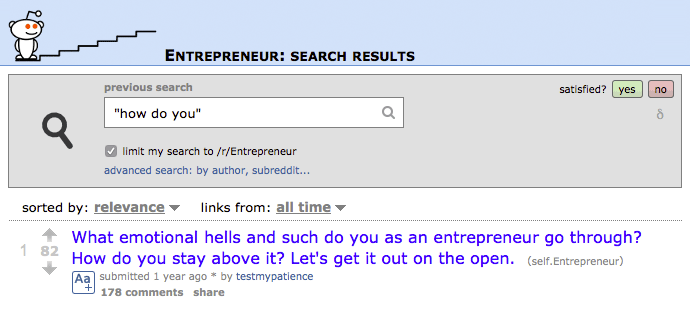 Blog post ideas: Hacking reddit search results