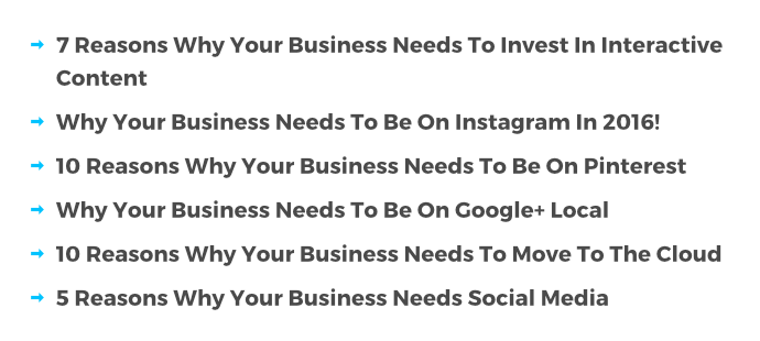 "Articles revealing ""things every business needs"" are a dime a dozen"