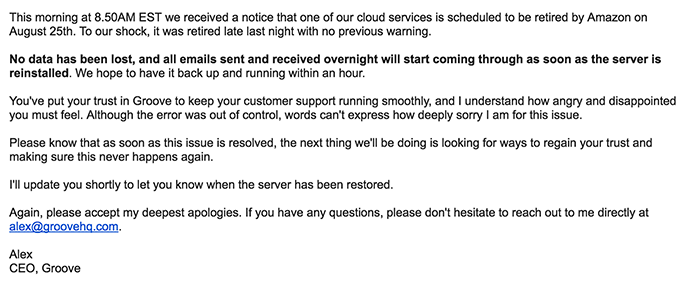 5 Customer Service Email Templates for Tough Situations | Groove Blog