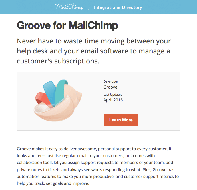 Groove for MailChimp