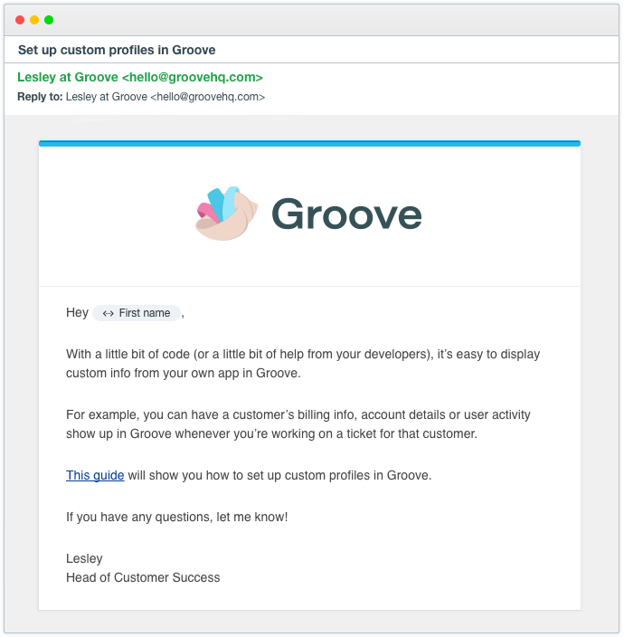 7 Customer Onboarding Email Templates That You Can Use Groove Blog