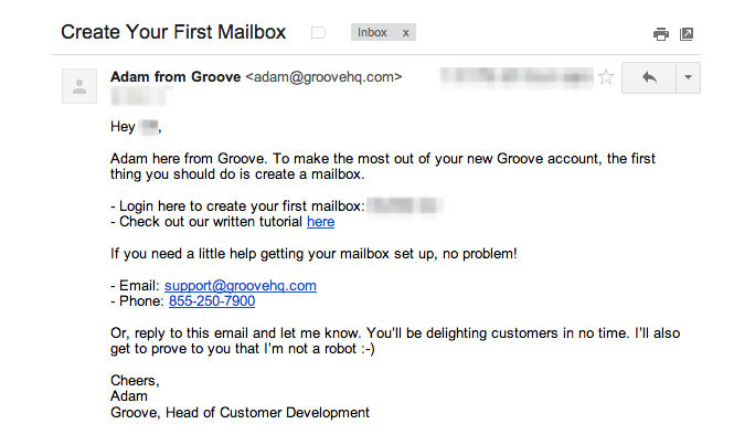 Welcome Response Email