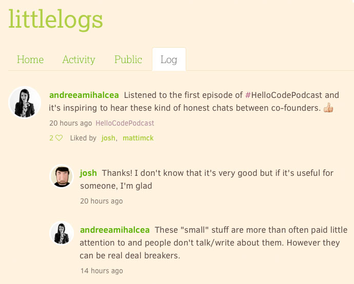 "Listened to the first episode of #HelloCodePodcast and it's inspiring to hear these kind of honest chats between co-founders. These ""small"" stuff are more than often paid little attention to and people don't talk/write about them. However they can be real deal breakers."