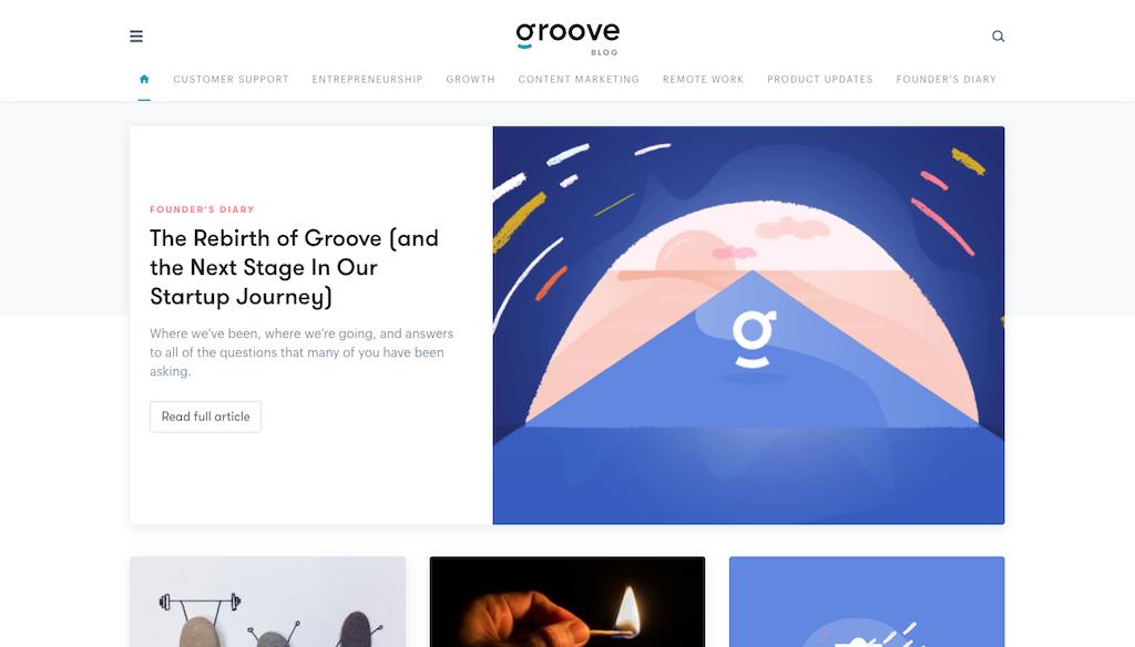 Groove blog homepage