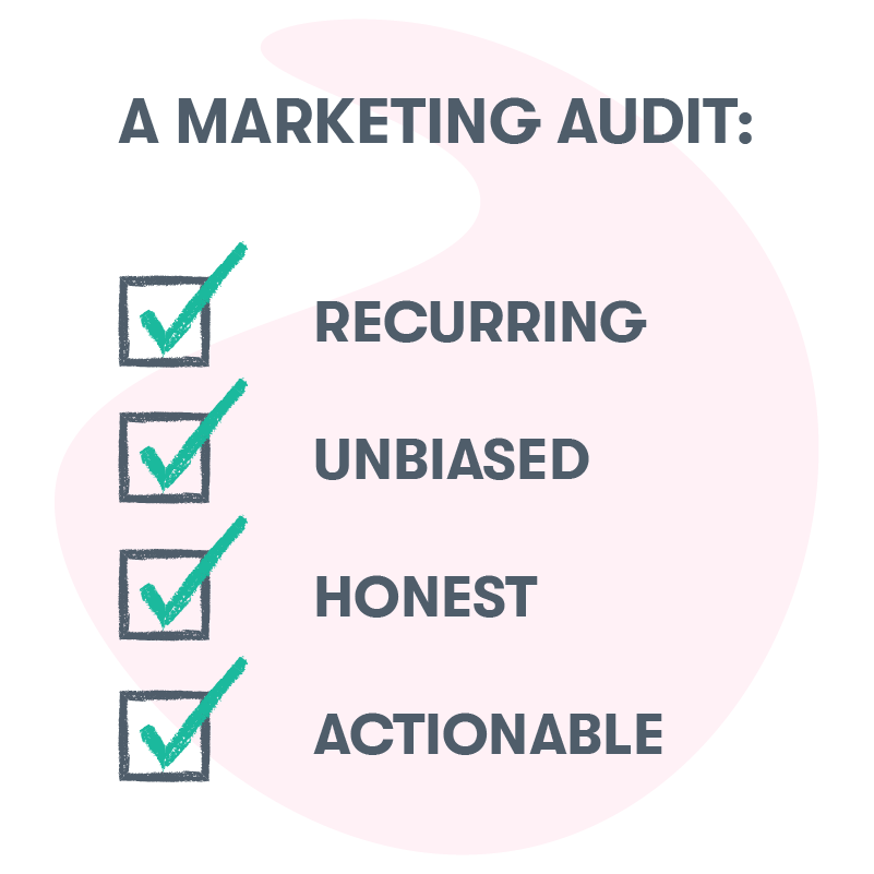 A marketing audit needs to be recurring unbiased, honest, and actionable