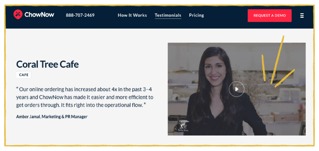customer marketing testimonial example