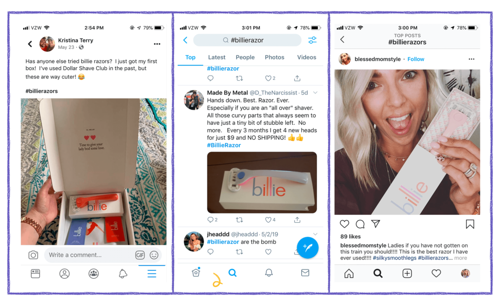 customer marketing user generated content example