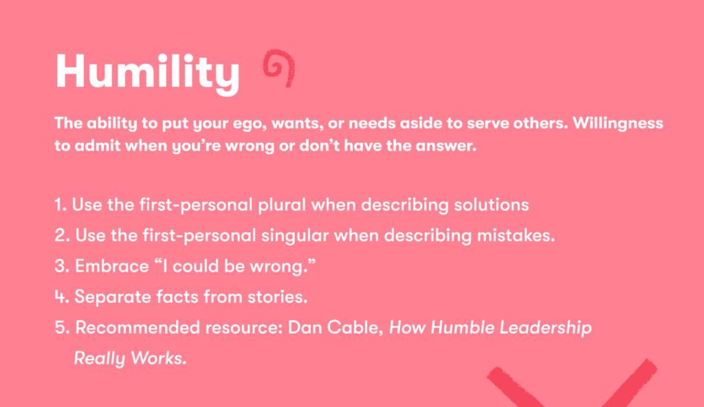 Customer service skill 11 humility