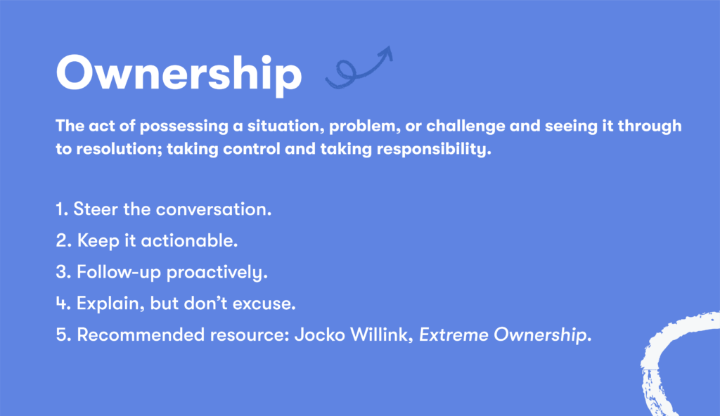 Customer service skill 13 ownership