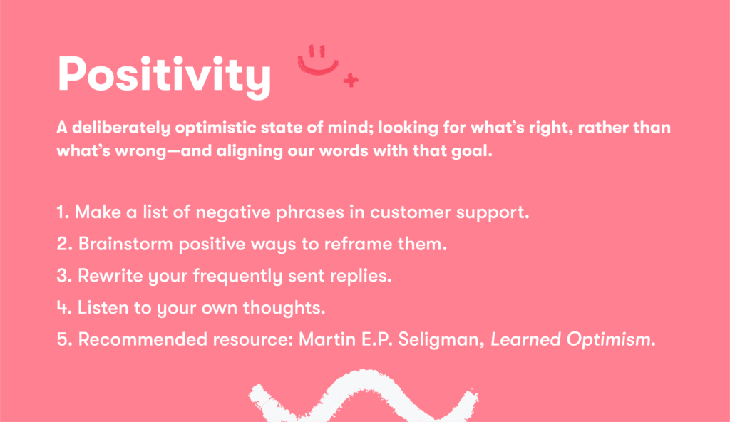 Customer service skill 2 positivity
