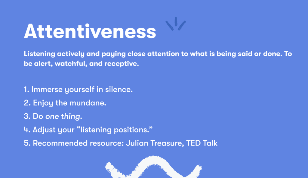 Customer service skill 7 attentiveness