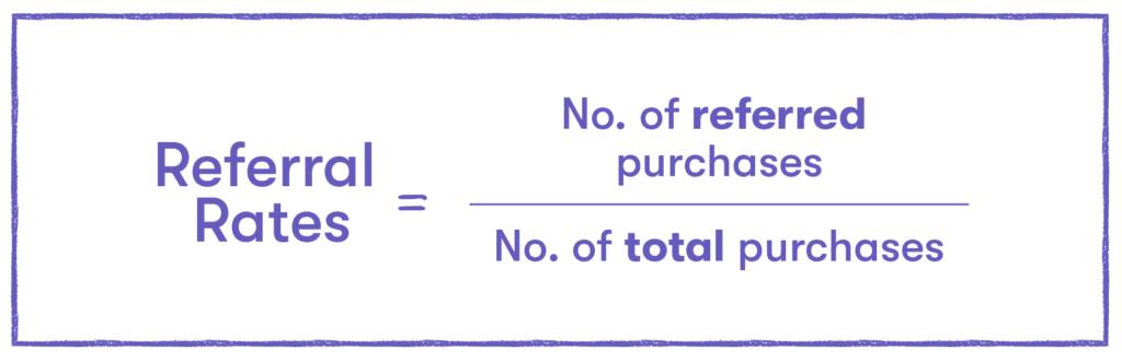 Referral rates formula
