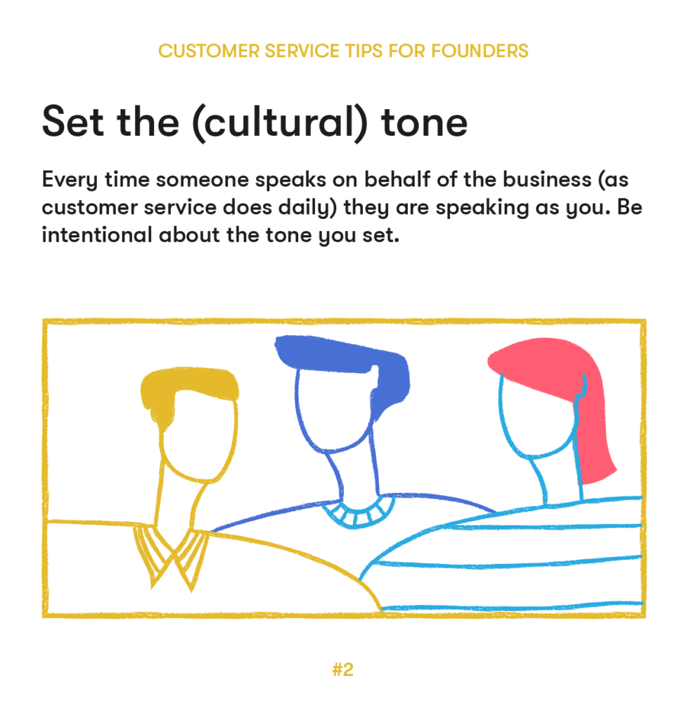 customer service tips 2 set the cultural tone