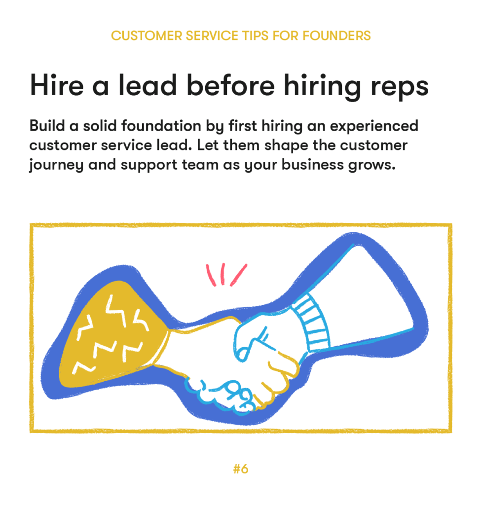 customer service tips 6 hire a lead before hiring reps