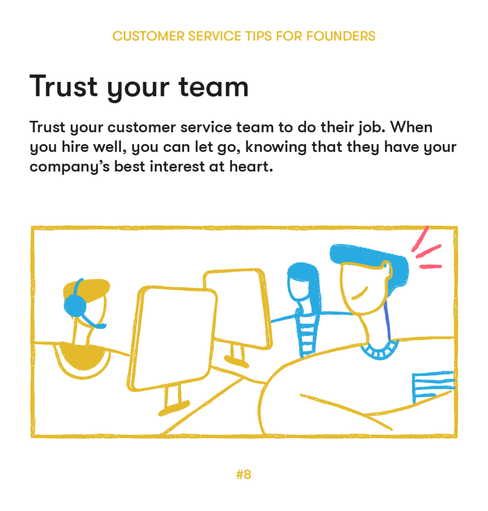 customer service tips 8 trust your team