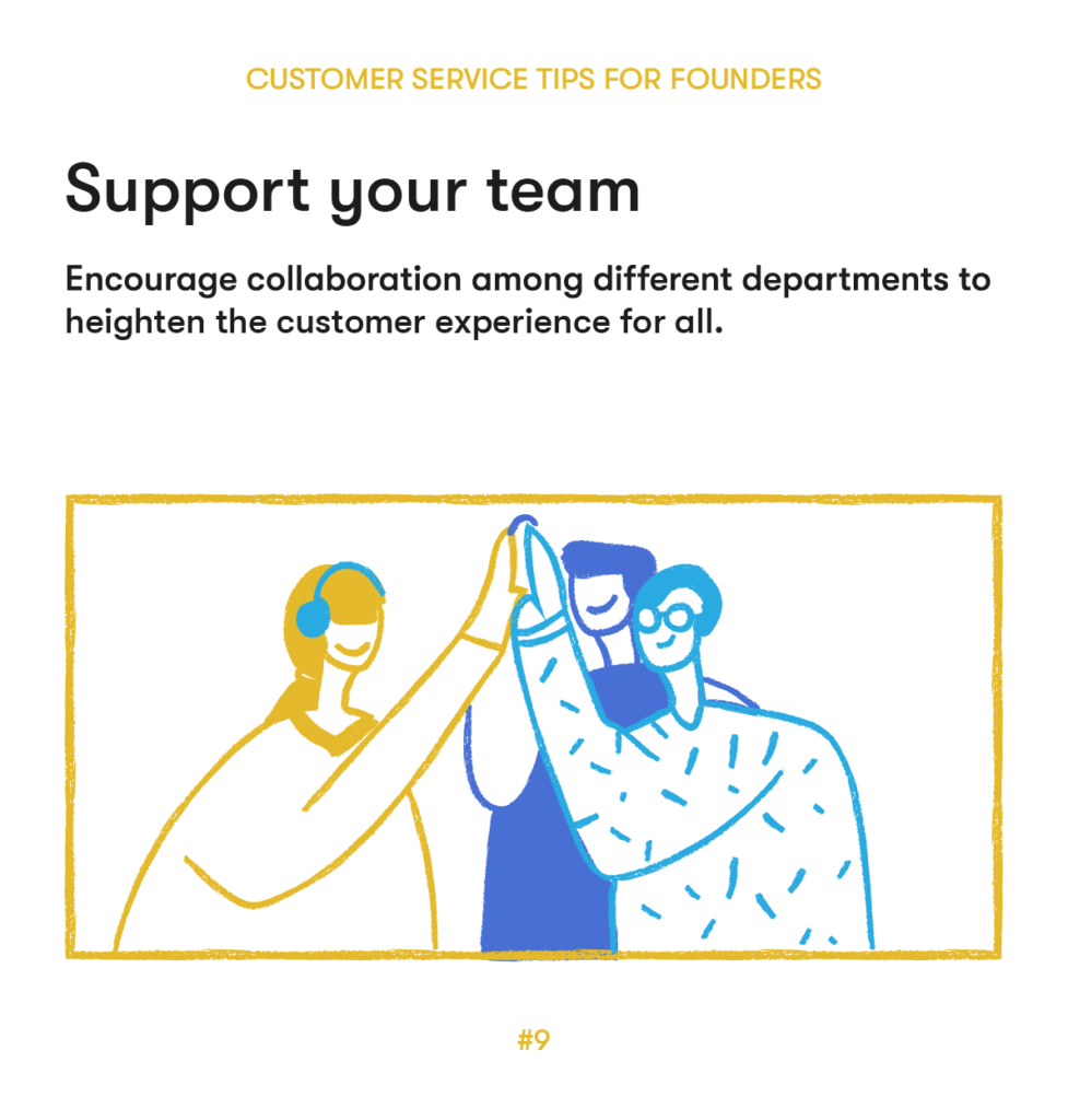 customer service tips 9 support your team