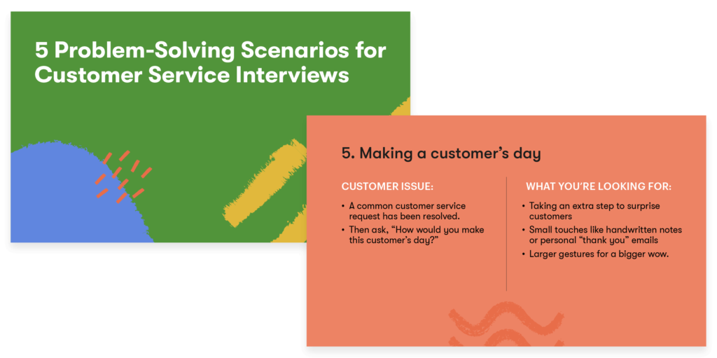 Preview of 5 Problem-Solving Scenarios for Customer Service Interviews