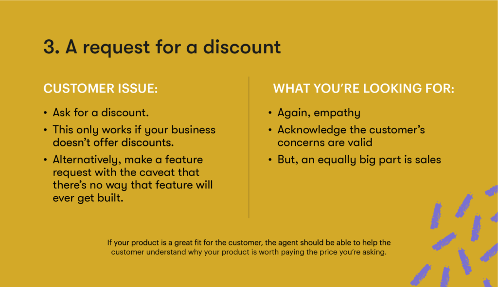Customer service interview question 3 - Request for a discount
