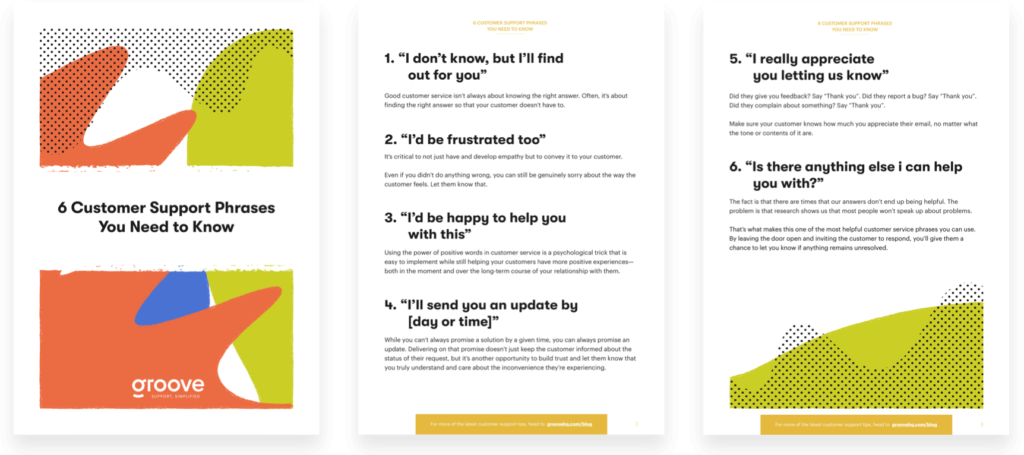 Just want the good stuff? No problem. Download the cheat-sheet version of  6 Customer Support Phrases You Need to Know