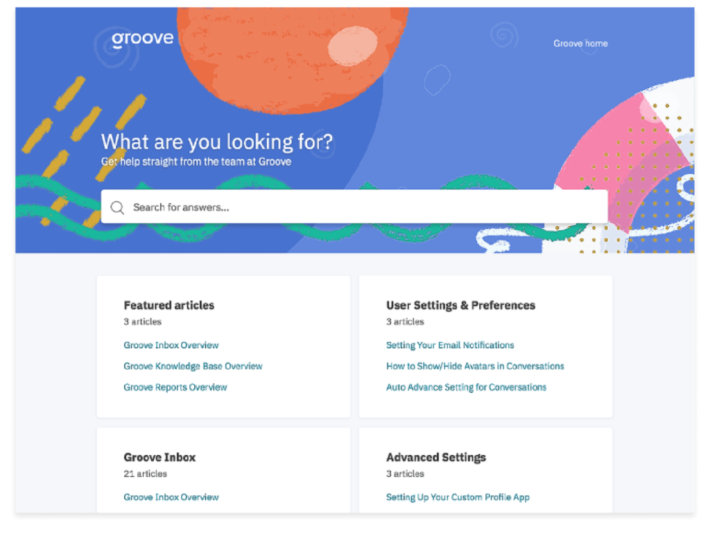 image of groove knowledge base