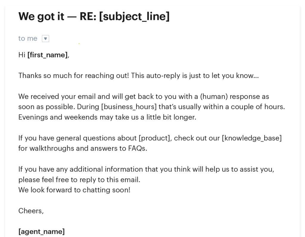 Auto-Reply Email Sample for Customer Service: A ...