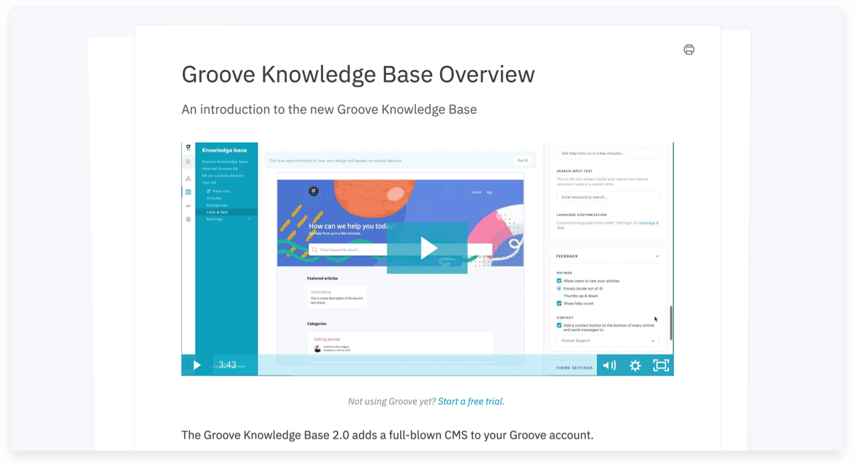 Multimedia asset management within a knowledge base