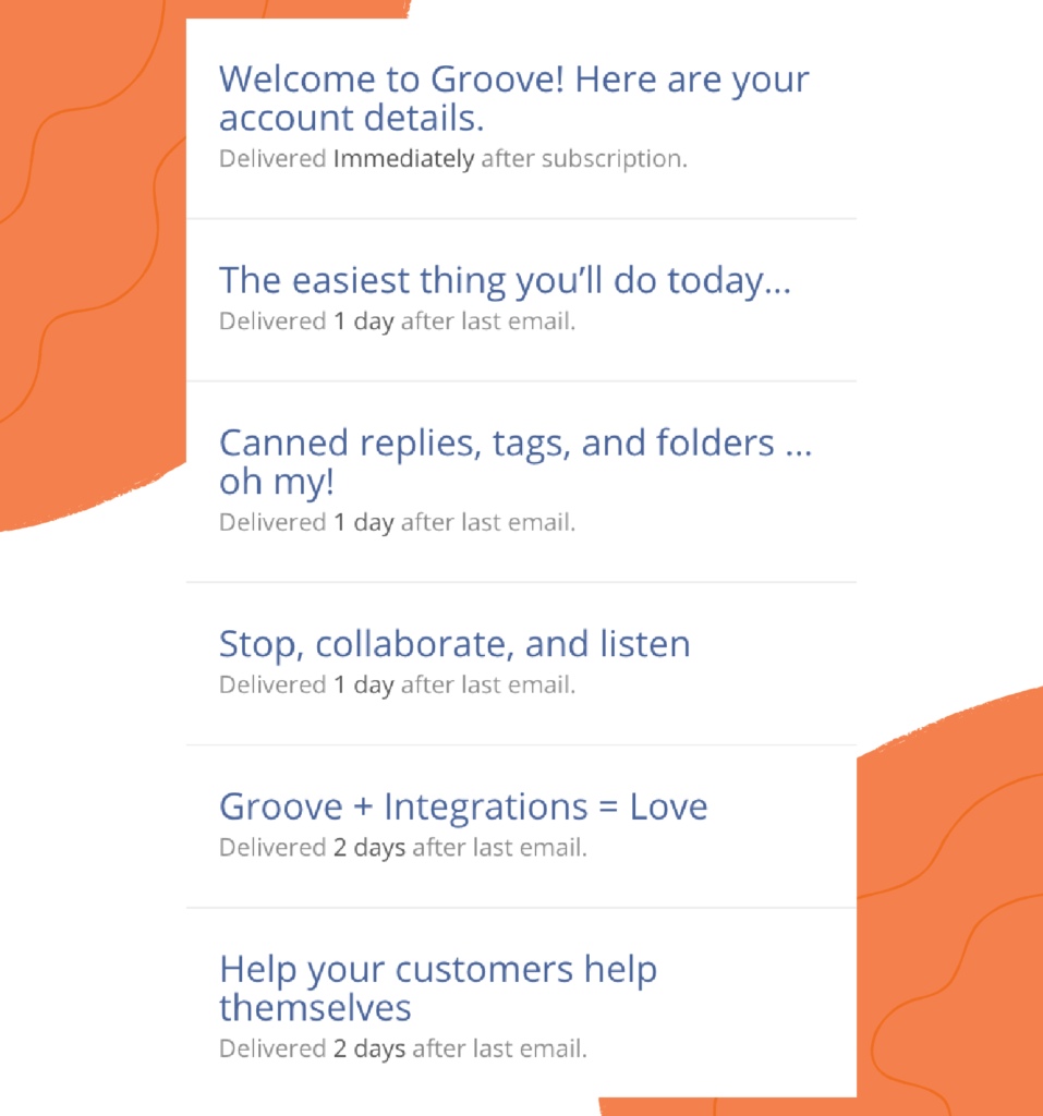 customer onboarding email sequence to account owners