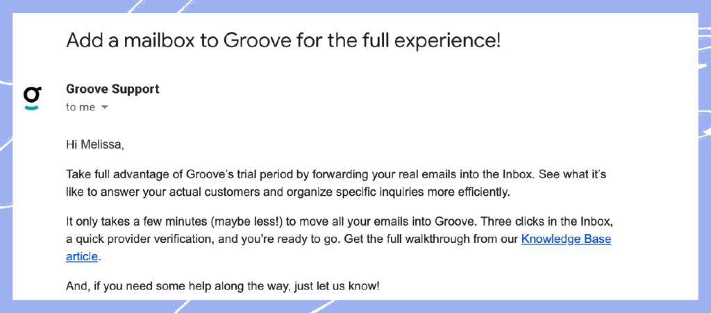 Customer success strategy 8: Email for at risk new customers