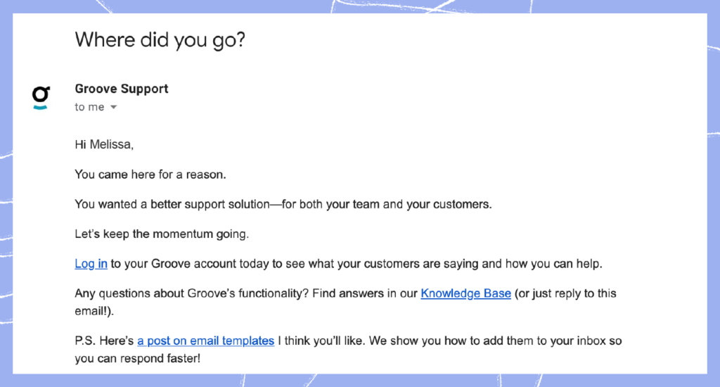 Customer success strategy 9: Email to prevent churn