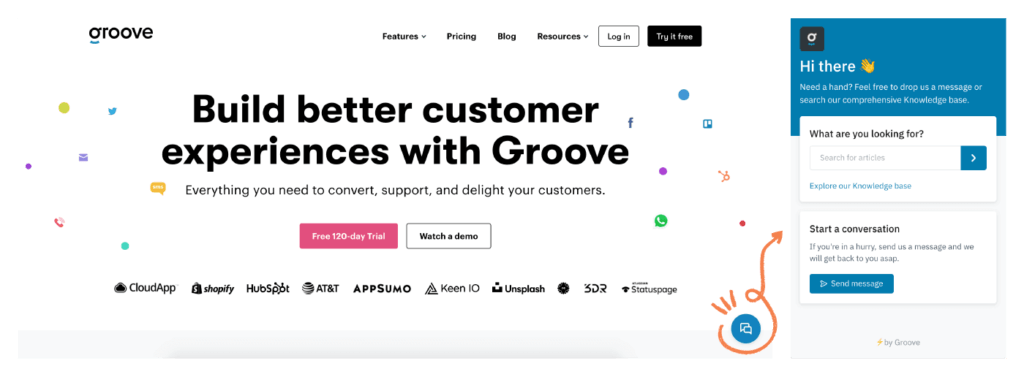 e-commerce customer service widget