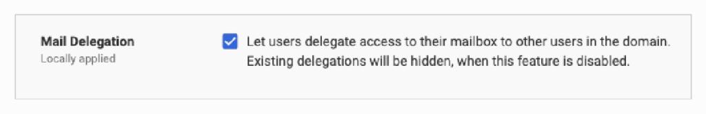 Gmail mail delegation