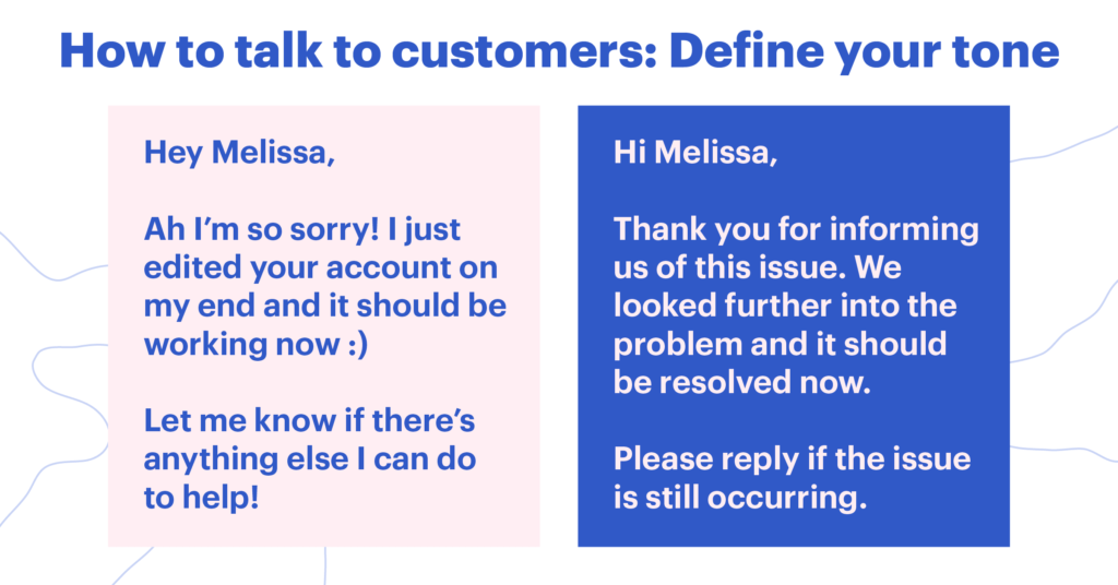 How to talk to customers: Tone