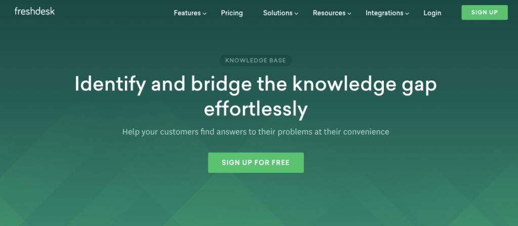 freshdesk knowledge base software
